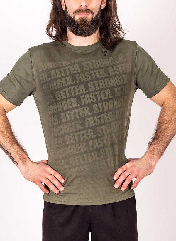 "Men's ""Faster, Better, Stronger"" Short Sleeve Crew Neck Shirt"