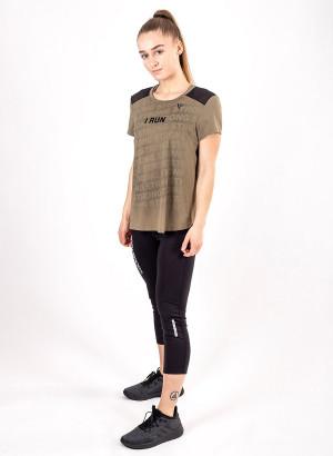 """Women's """"I RUN"""" Short Sleeve Shirt"""