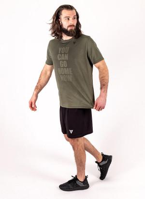"Men's ""YOU CAN GO HOME NOW"" Short Sleeve Crew Neck Shirt"