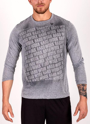 "Men's ""Work Hard"" Long Sleeve Crew Neck Shirt"
