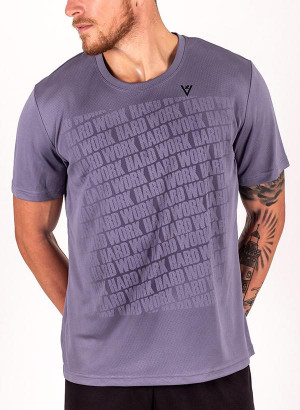 "Men's ""Work Hard"" Short Sleeve Crew Neck Shirt"